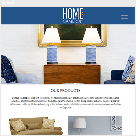 Home on Cameron Website