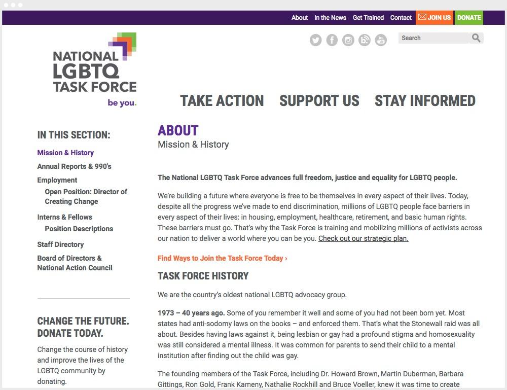 TF Website Info