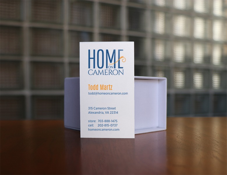 Home on Cameron Business Card Design