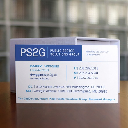 PS2G Business Card Front Design