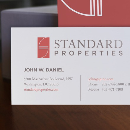 Standard Properties Business Card Design