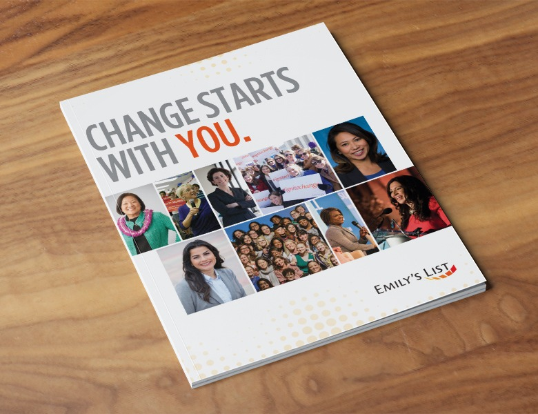 Emily's List Changes Starts with You. Book Design