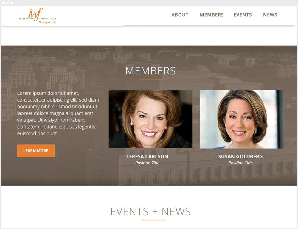 IWFDC Washington DC Wordpress Website Design & Development Members Page