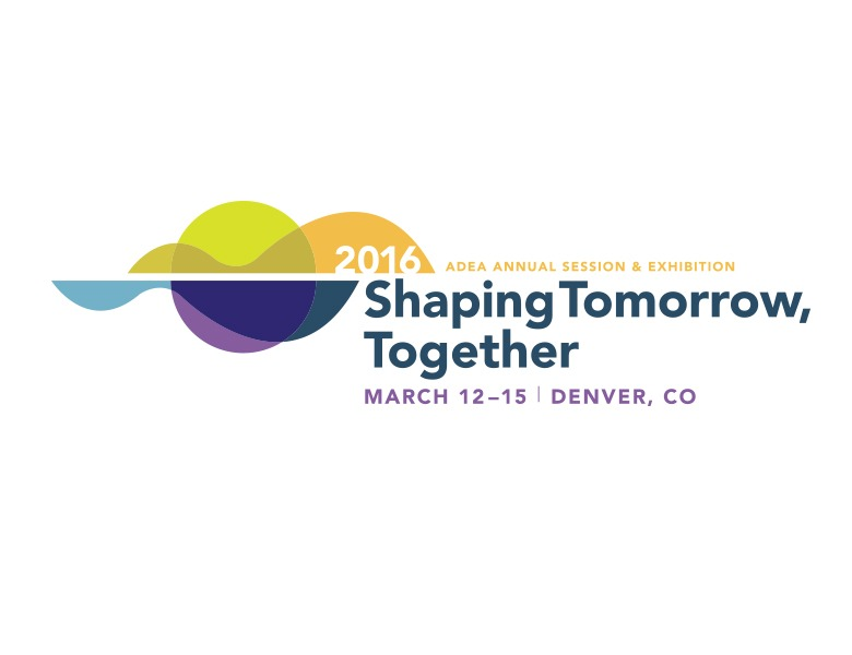 ADEA Annual Session & Exhibition Shaping Tomorrow Together Logo Design