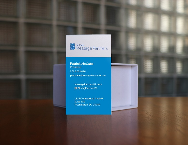 McCabe Message Partners Business Card Back Design