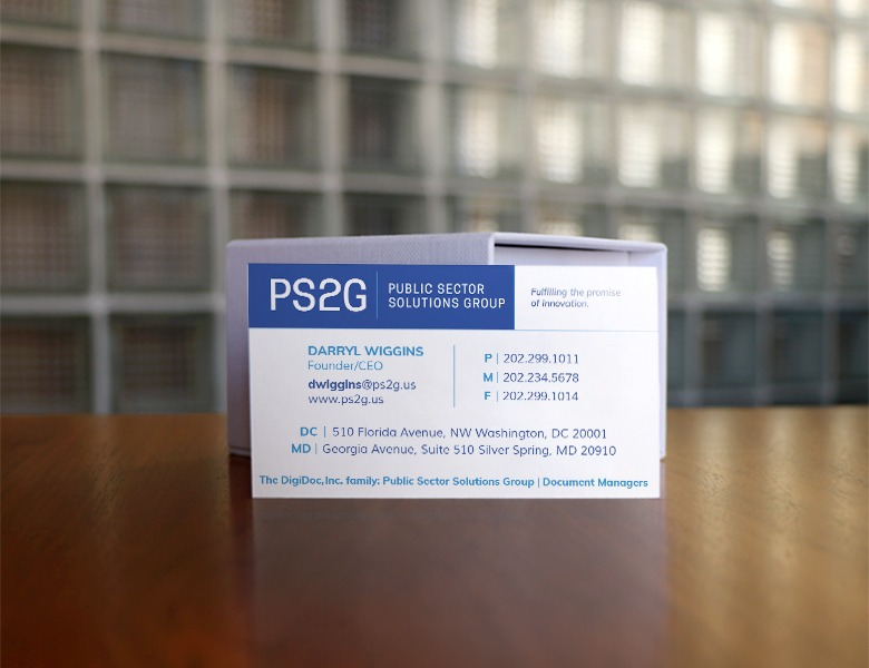 PS2G Business Card Branding Design