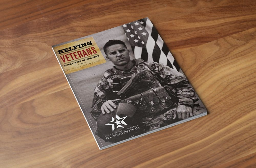 Helping Veterans 2013 Annual Report Cover Print Design 2