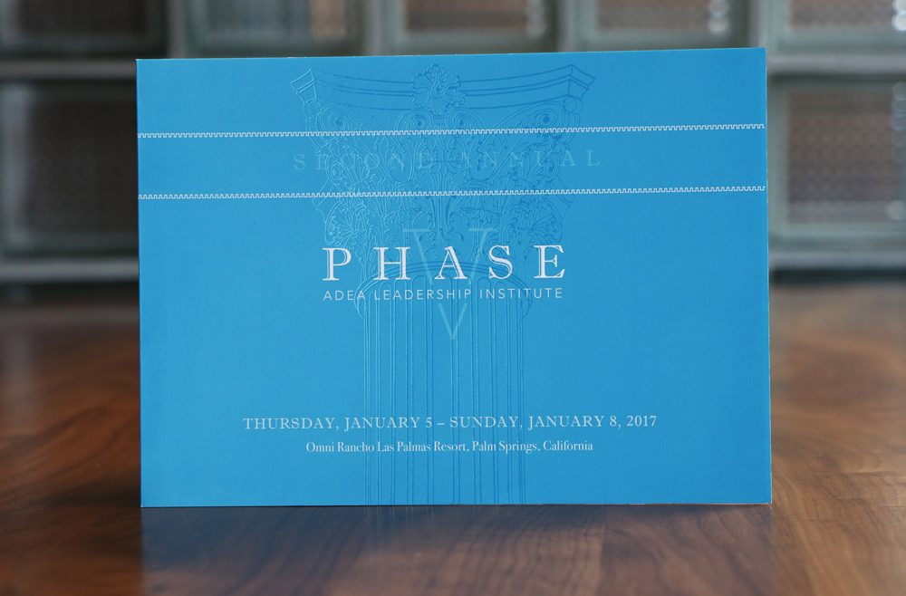 American Dental Education Association ADEA Phase 5 Leadership Institute Invitation Cover Print Design