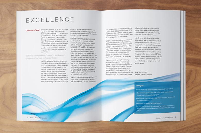 SDFCU Annual Report Inside Spread blue