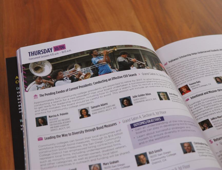 ACCT 2016 Conference Program Inside Print Design