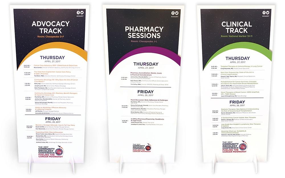 COA Conference Sign Agenda Design