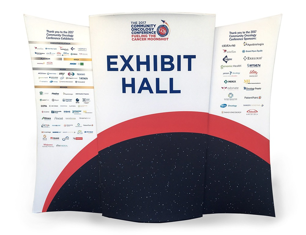 COA Exhibit Hall Conference Sign Design