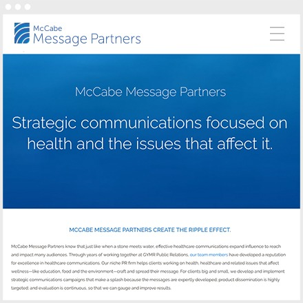 McCabe Message Partners Wordpress Website Design