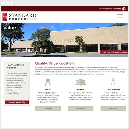 Standard Properties Responsive Wordpress Homepage