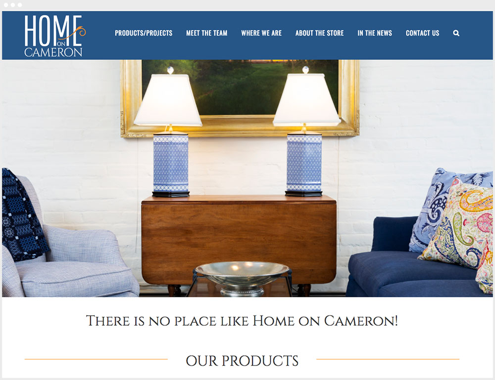 Home On Cameron Wordpress Design & Development Homepage