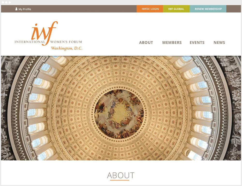 International Women's Forum Washington DC Wordpress Website Design & Development