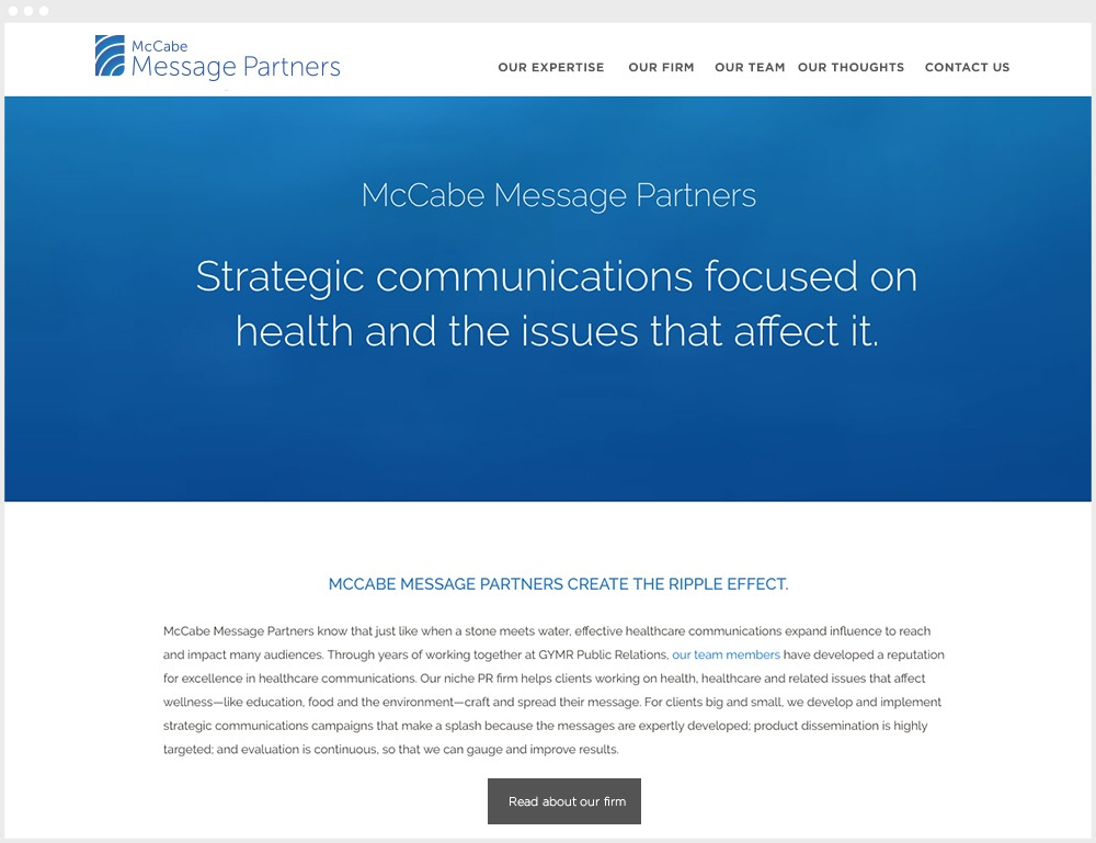 McCabe Message Partners Wordpress Website Design & Development