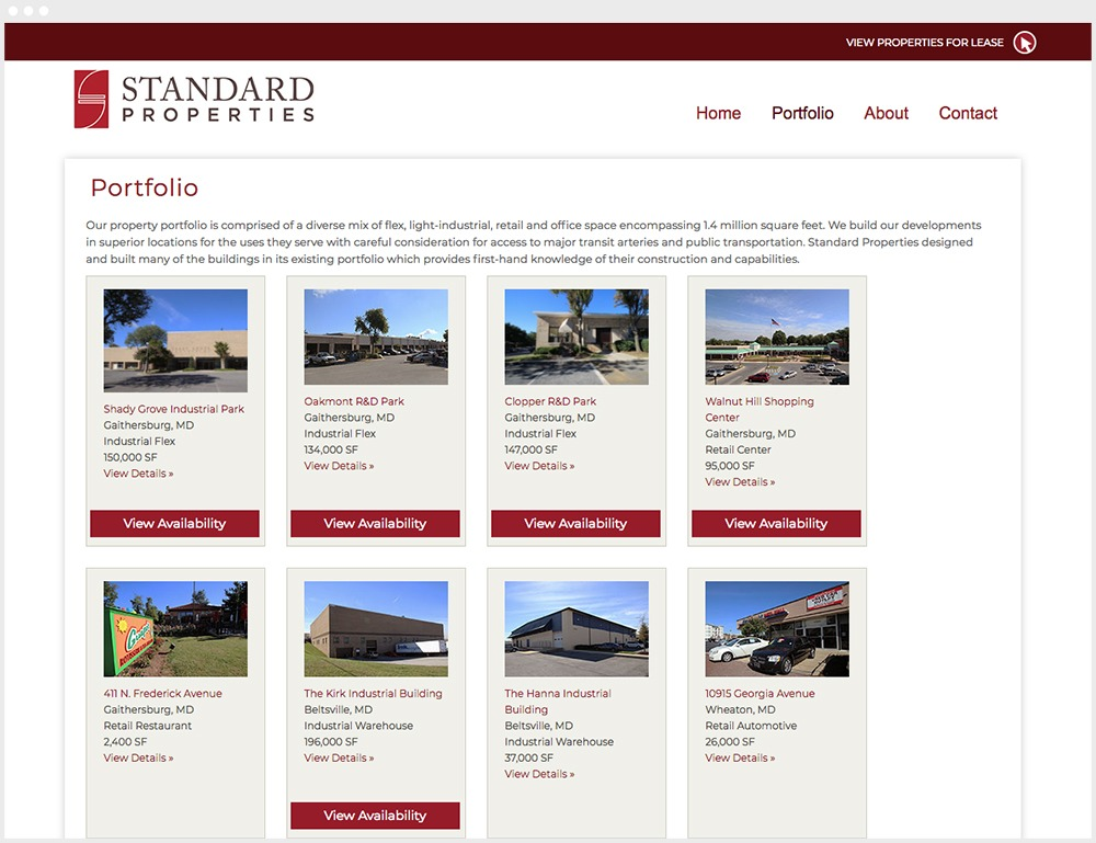 Standard Properties Wordpress Design Property Listing Page