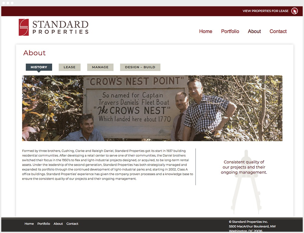 Standard Properties Wordpress Website Design About Section