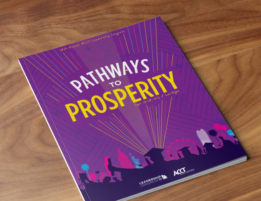 Association of Community College Trustees Pathways to Prosperity Cover Image Print Design