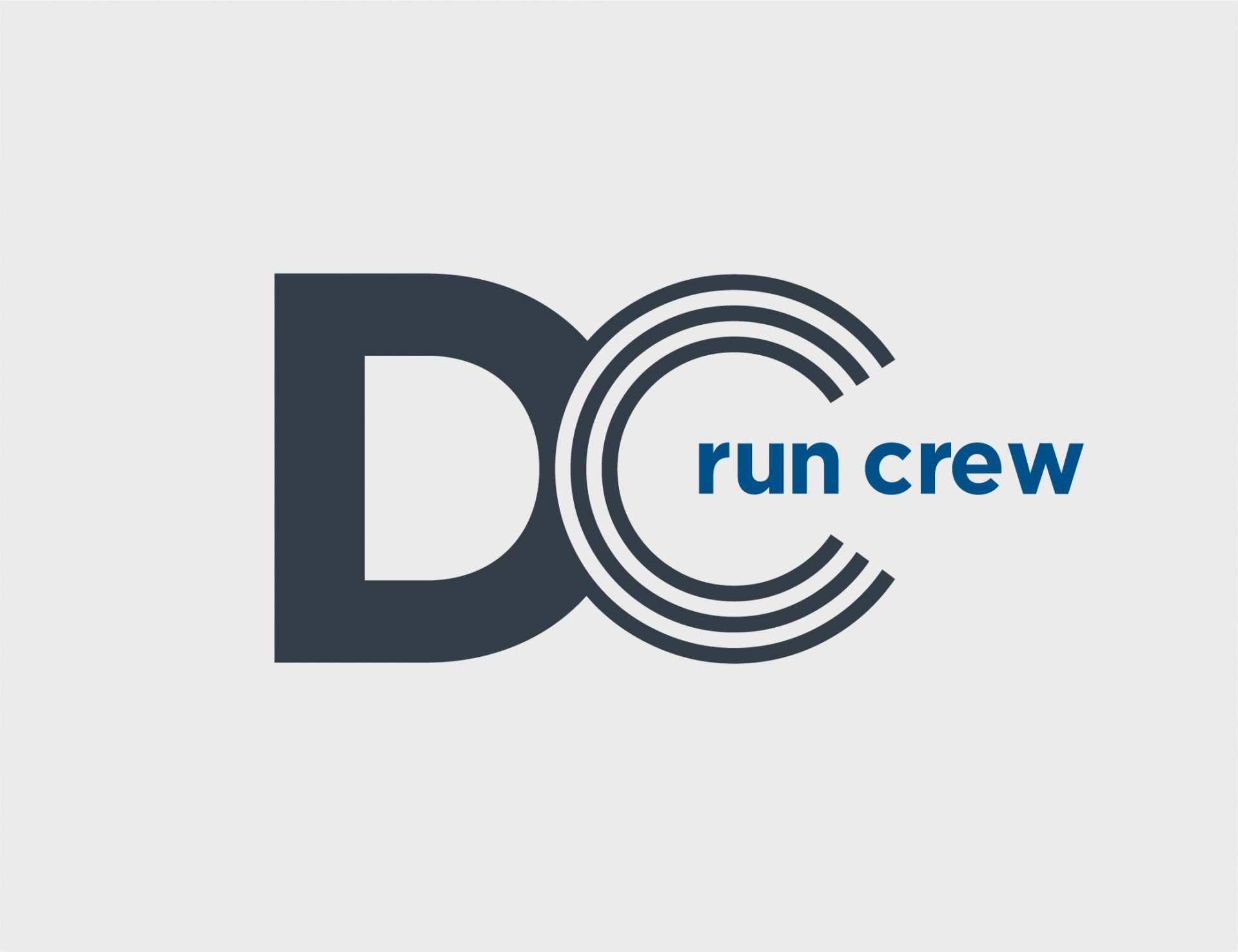 Washington DC Run Crew Logo Design Grey Blue