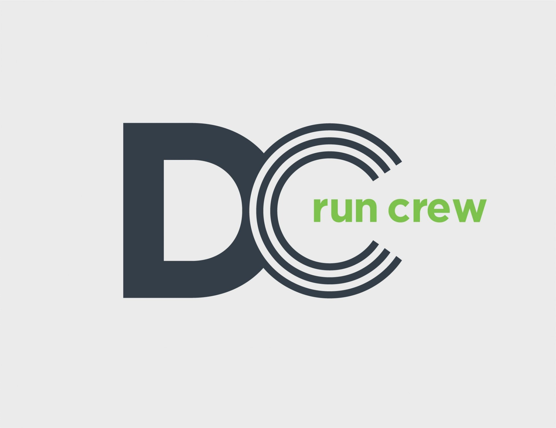 Washington DC Run Crew Logo Design Grey Green