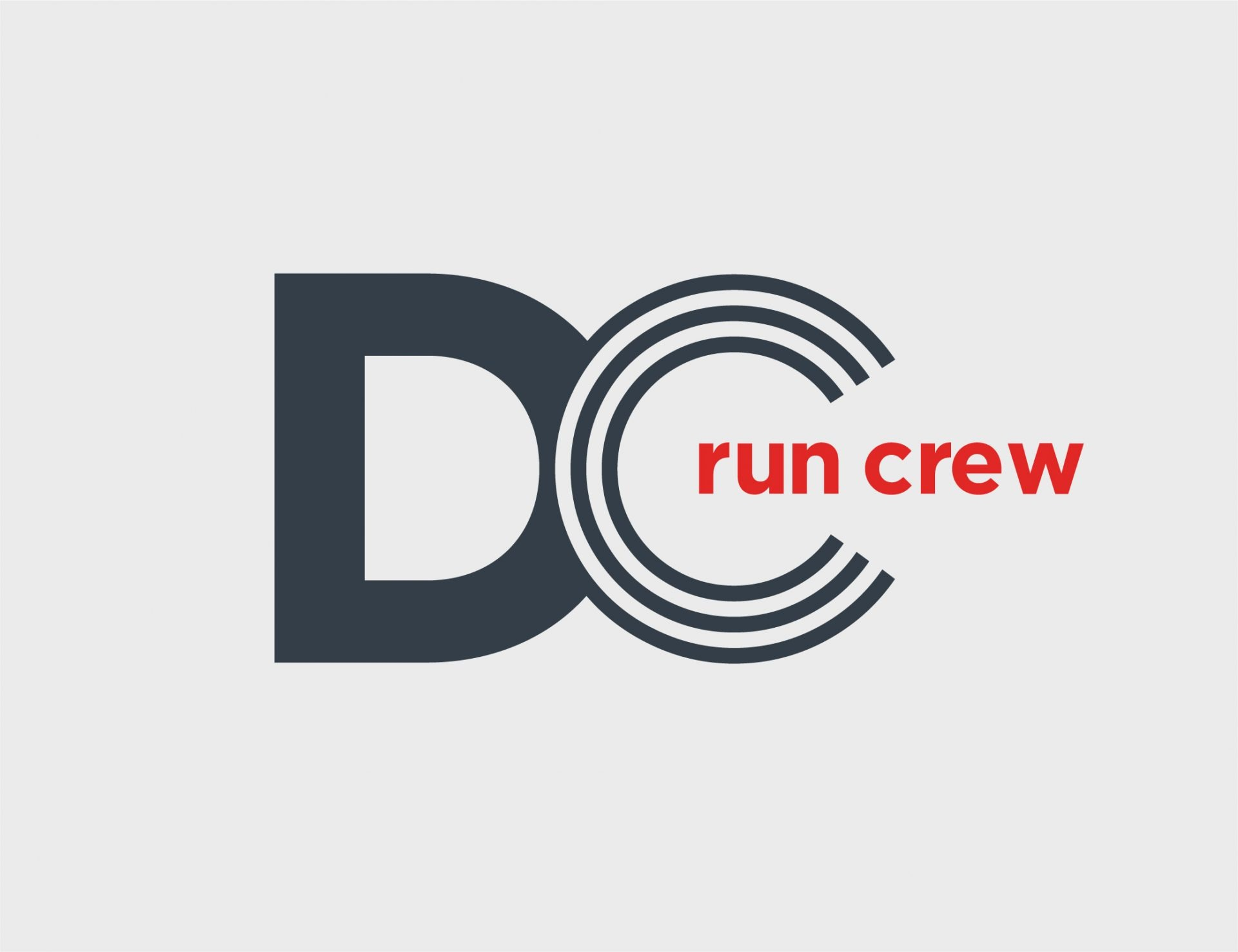 Washington DC Run Crew Logo Design Red